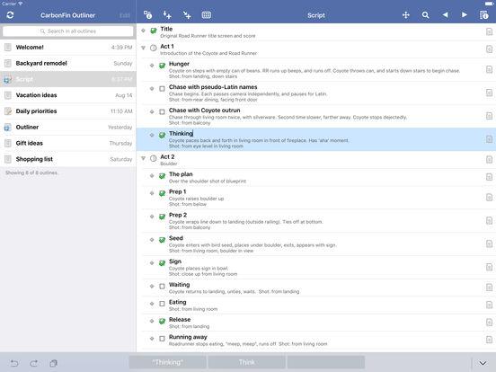 Outliner iPad Screenshot 2