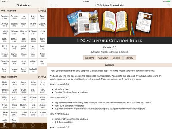 LDS Scripture Citation Index iPad Screenshot 1
