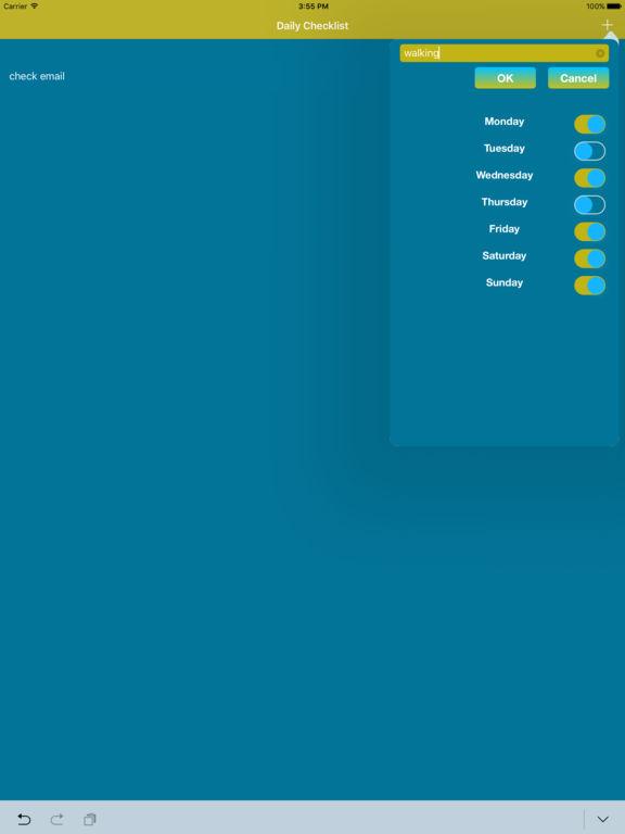 Daily Check - check daily routines,todos Screenshots