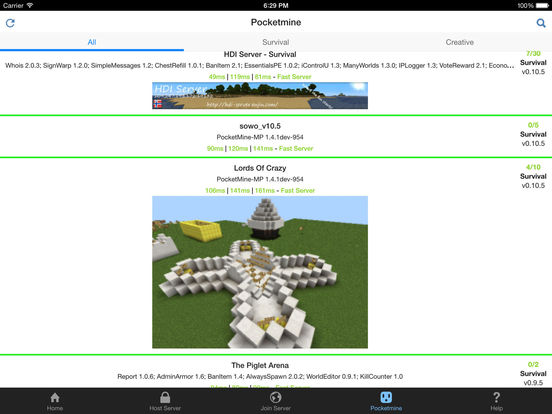 Plug for Minecraft PE Screenshots