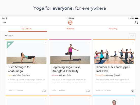 YogaGlo – Yoga and meditation video classes screenshot