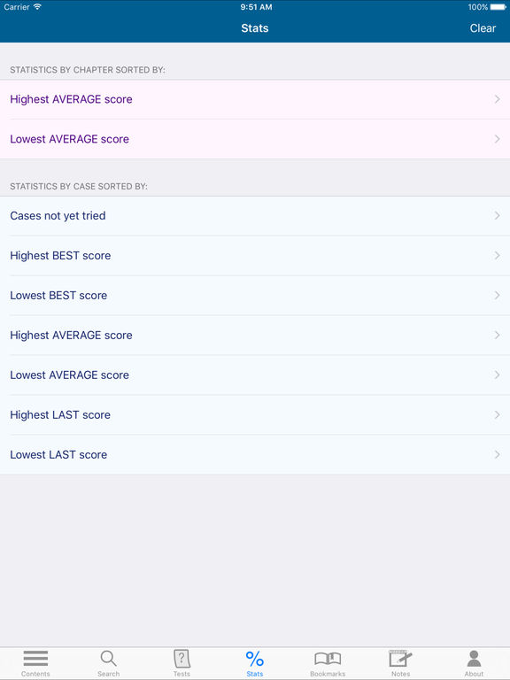 Practice examination and board review app store