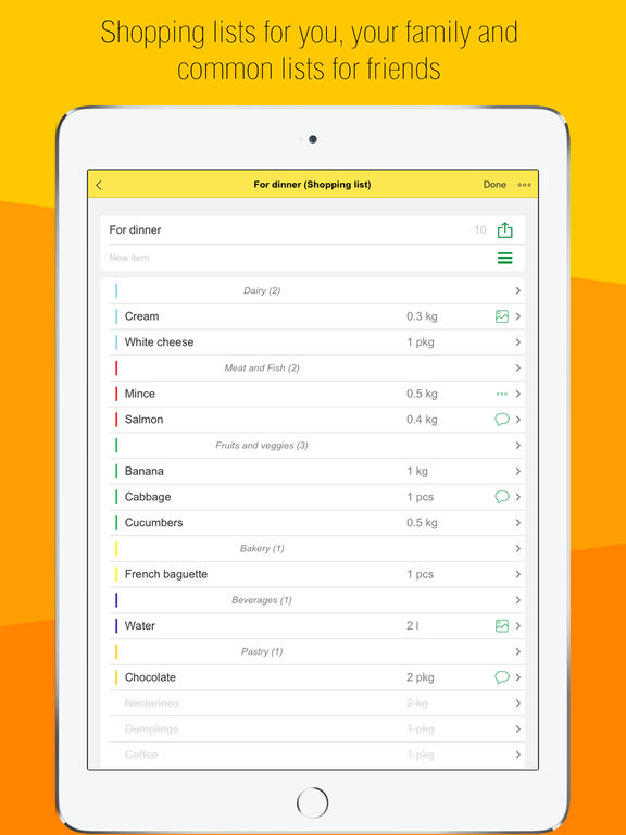 sList-a handy shopping list,buy,checkout,organize Screenshots