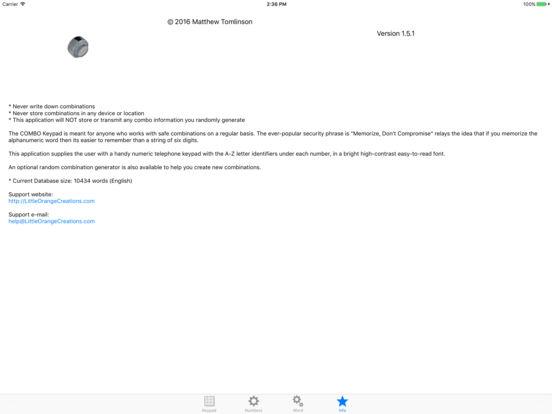 COMBO Keypad iPad Screenshot 4