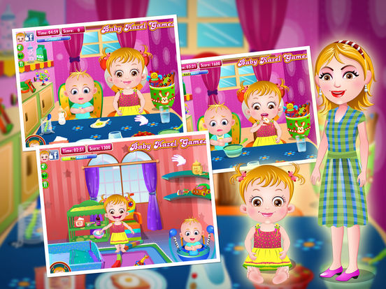 Baby Hazel Sibling Care на iPad