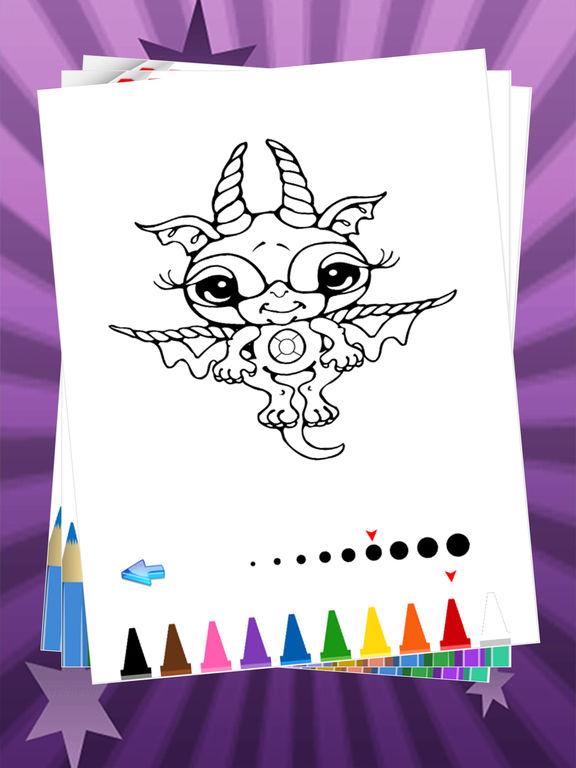 App Shopper My Pet Dragon Coloring Book For Kids Learn