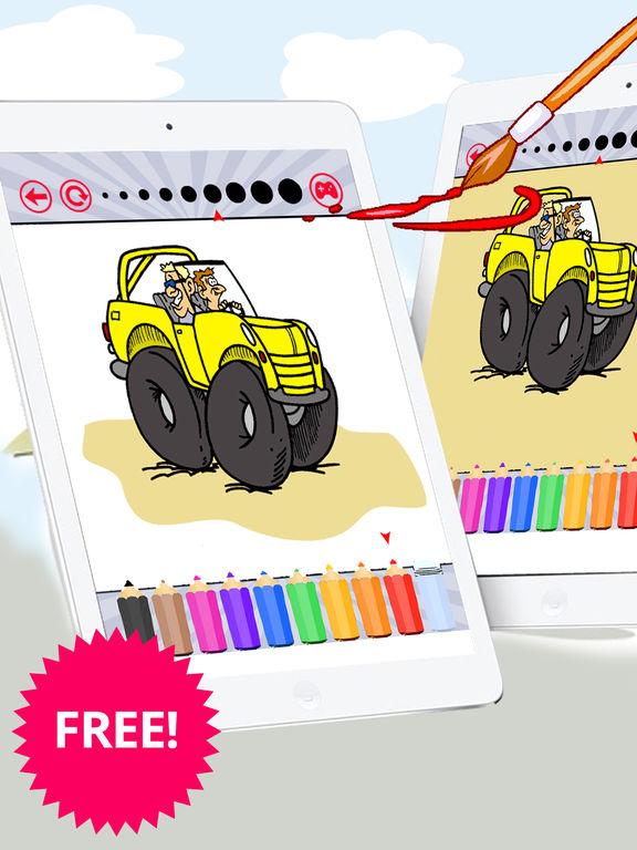 Автомобили раскраски Забронировать Бесплатно для д Скриншоты8