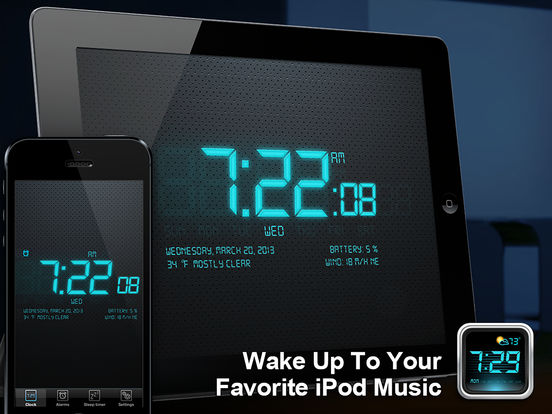 Alarm Clock 4 Free iPad Screenshot 1