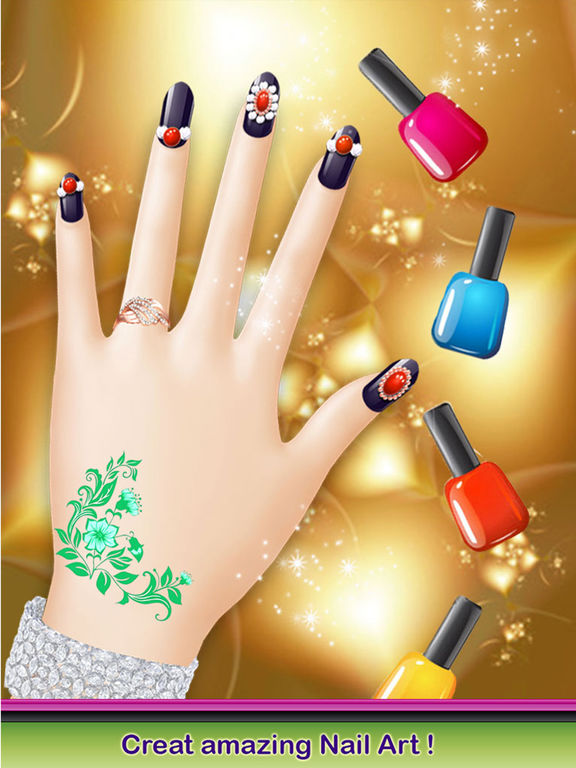 App shopper christmas nail salon delicate manicure art for A nail salon game