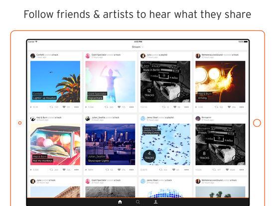 Screenshots of SoundCloud - Music & Audio for iPad