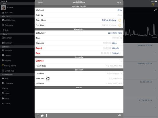 Swim Speeds iPad Screenshot 2
