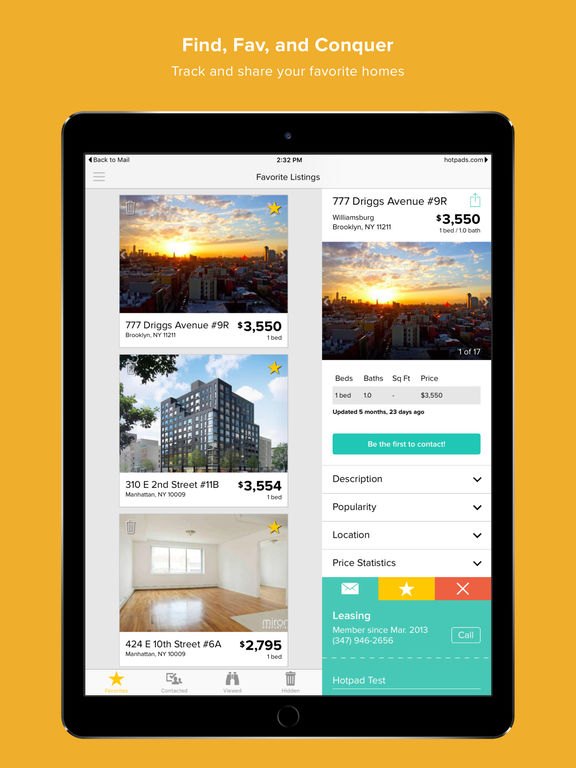 Hotpads rentals find apartments homes for rent on the for Buy house app