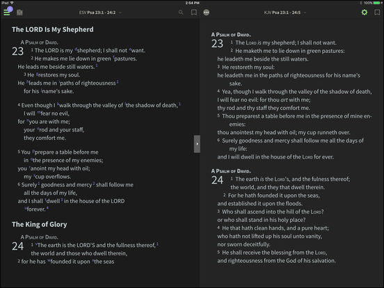 GNT and BHS for BibleReader iPad Screenshot 2
