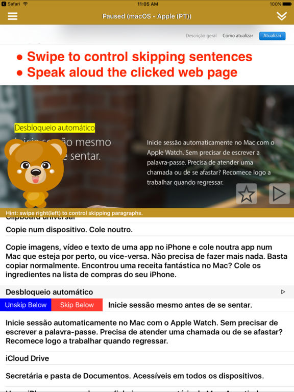 SpeakPortuguese 2 (10 Portuguese TTS) Screenshots