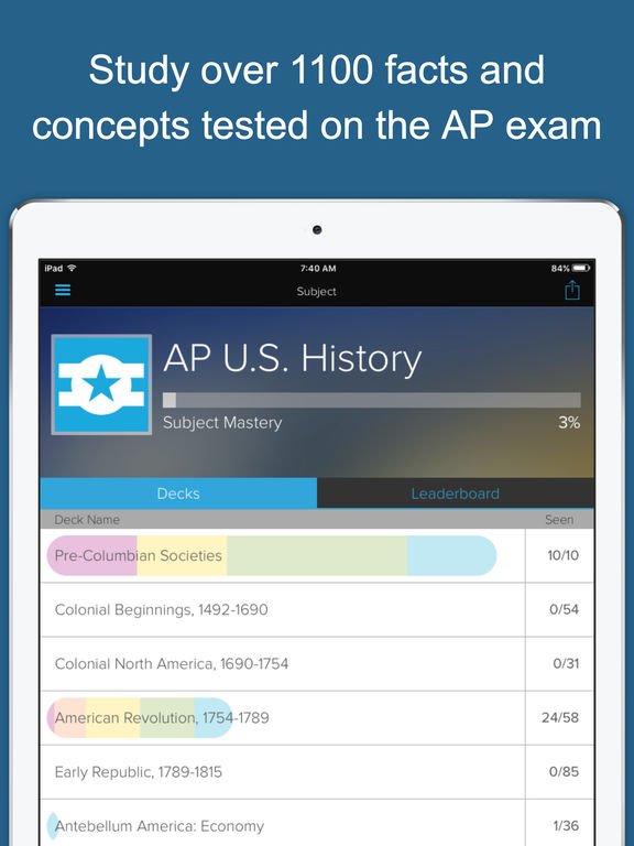 AP U.S. History Exam Prep - powered by Brainscape Screenshots