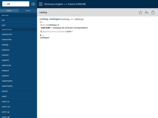 PONS Compact Dictionary French <-> English iPad Screenshot 5