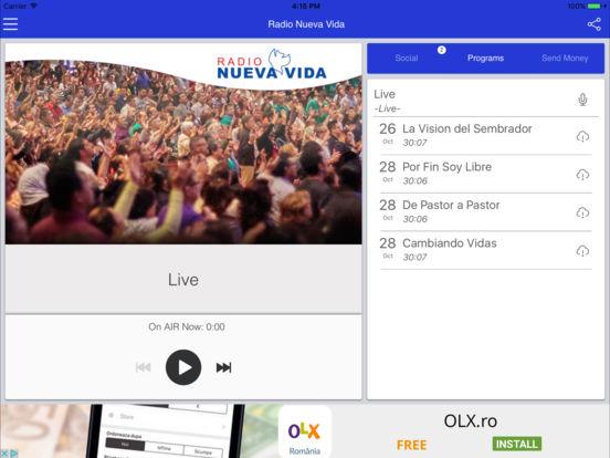 Radio Nueva Vida – Alabando a Dios en todo momento. iPad Screenshot 2