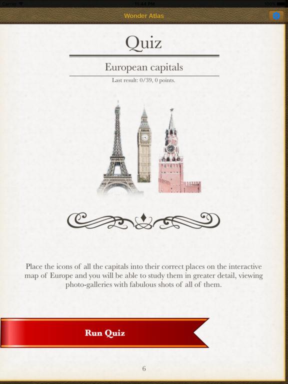 Europe. The wonder Atlas Quize Pro. Screenshots