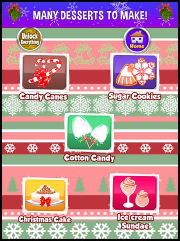 Screenshots of A Christmas Food Fever Cooking Maker - make xmas cake & cookie dessert in a kid making game! for iPad