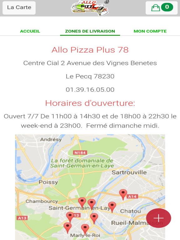 App shopper allo pizza plus le pecq shopping - 16 avenue de saint germain 78560 le port marly ...