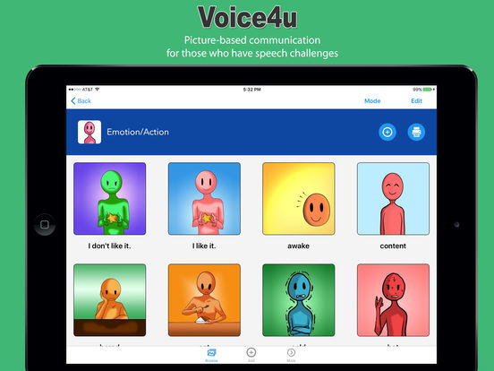 Voice4u AAC - Picture-based communication board Screenshots