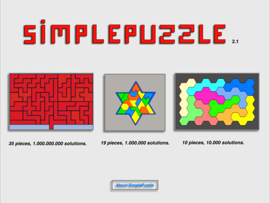 SimplePuzzle iPad Screenshot 1