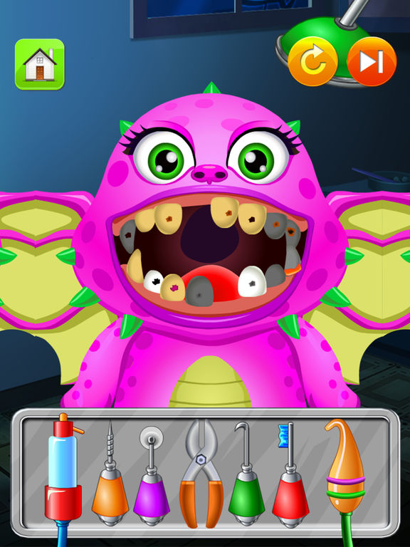 Monster Dentist Doctor Shave - Kid Games Freescreeshot 4
