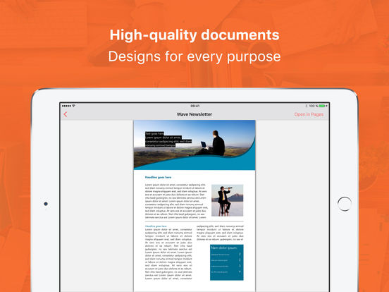 Templates for Pages Professional Screenshots