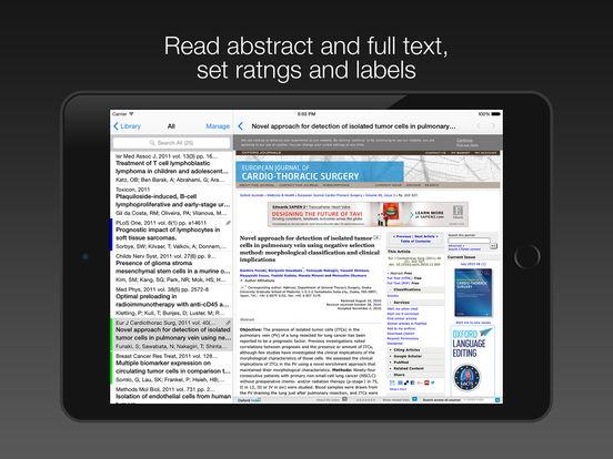 PubMed On Tap Lite iPad Screenshot 3