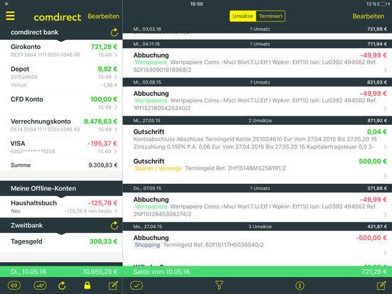 comdirect Banking App iPad Screenshot 2
