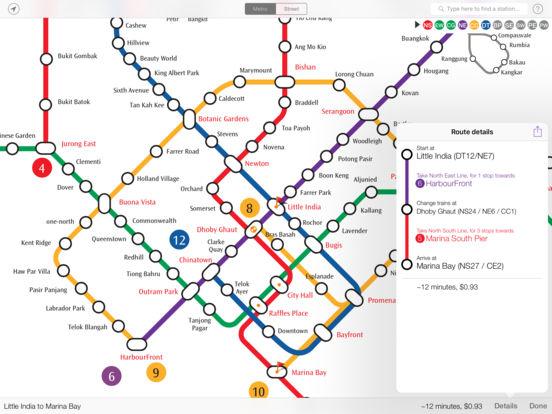 Explore Singapore MRT map iPad Screenshot 1