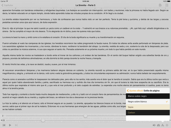 La Sirenita - AudioEbook iPad Screenshot 2