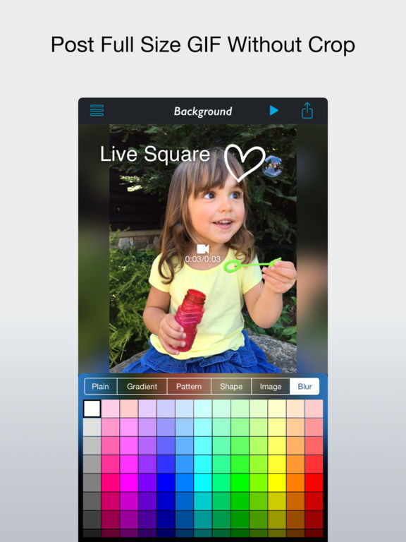 Live Square - Post Full Size Live Photo and Video Screenshots