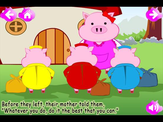 The Three Little Pigs (Kids Story Book) iPad Screenshot 2