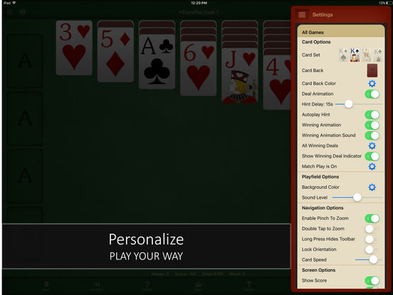 Screenshots of Solitaire Free for iPhone & iPad for iPad