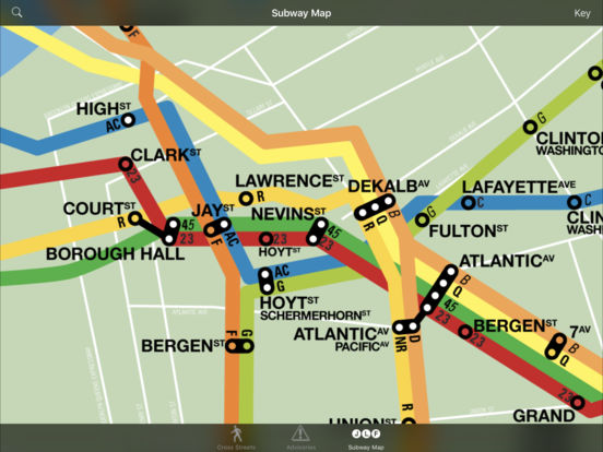 CrossWalk NYC: cross-street finder, subway map, and guide iPad Screenshot 2