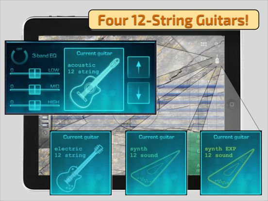 OMGuitar-12 Digital Twelve String Guitar with FX iPad Screenshot 1