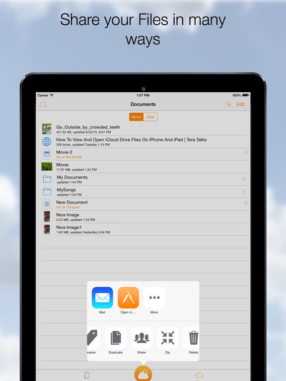 Cloud Opener - File manager, Movie player and more Screenshots