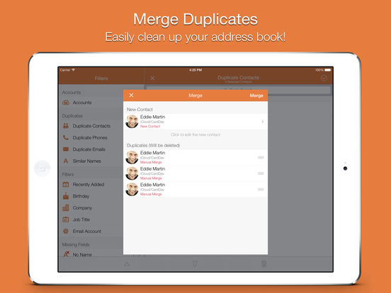 Screenshot #2 for Cleaner Pro - Remove Duplicate Contacts