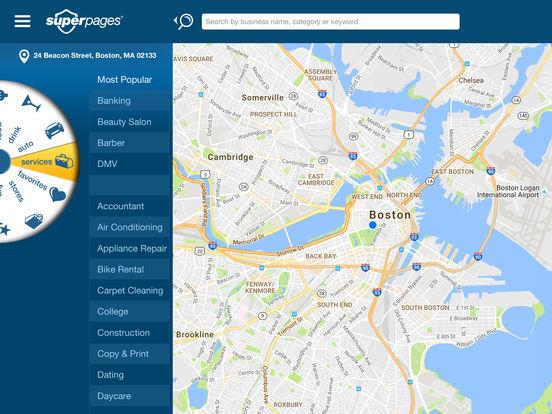 Superpages iPad Screenshot 1