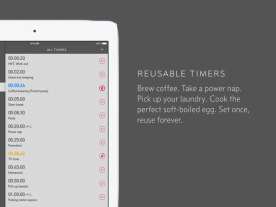 Due — super fast reminders, reusable egg timers screenshot