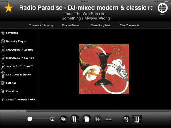 Tunemark Radio iPad Screenshot 1