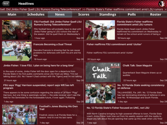 Florida State Seminoles College SuperFans iPad Screenshot 1