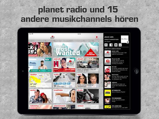 planet radio 2.0 iPad Screenshot 1