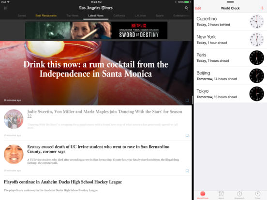 LA Times iPad Screenshot 1