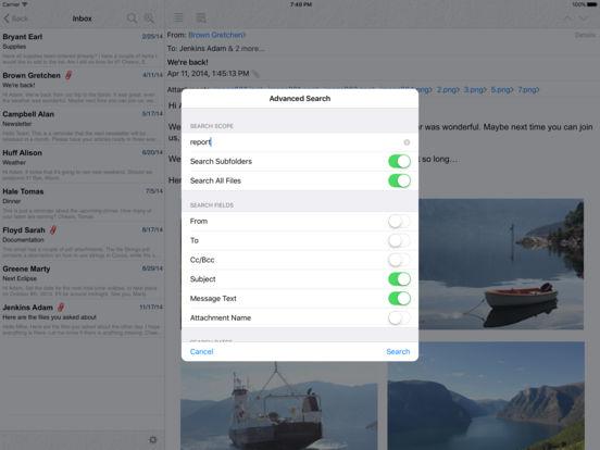 Pst Mail iPad Screenshot 3