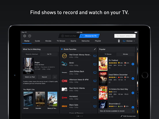 DIRECTV App for iPad Screenshots