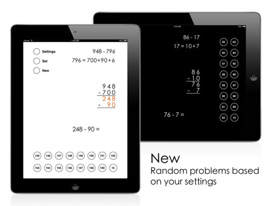 Left-to-Right Subtraction iPad Screenshot 4