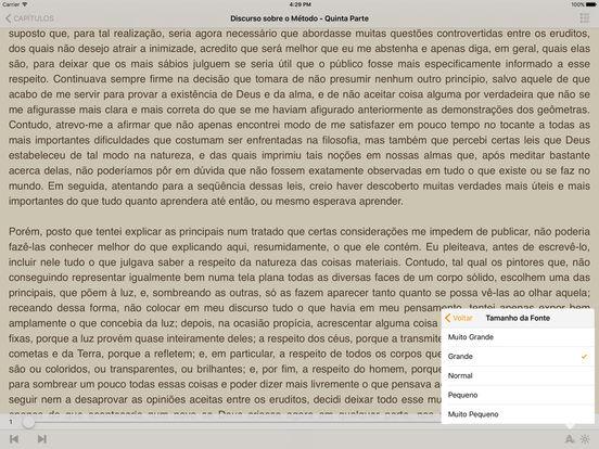 Discurso sobre o Método - René Descartes (Português) iPad Screenshot 1