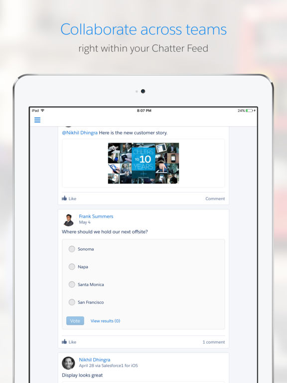 Screenshots for Salesforce1